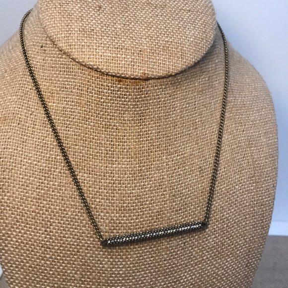 Chloe + Isabel Jewelry - Pave Bar Pendant Necklace